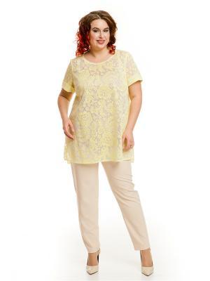 Блузка Luxury Plus. Цвет: желтый
