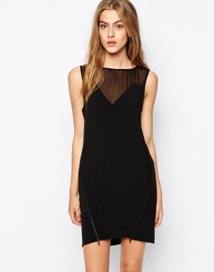 2nd Day Платье с полупрозрачными вставками. Цвет: черный