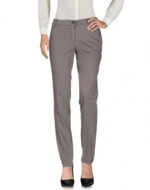 Повседневные брюки YUKO. Цвет: серый