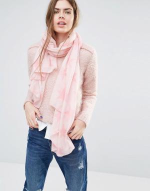 Becksondergaard Шарф с розовыми звездами. Цвет: розовый