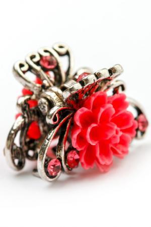 Заколка винтажная FRANSUA ARDY. Цвет: розовый