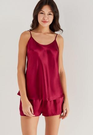 Пижама Mia-Mia. Цвет: бордовый