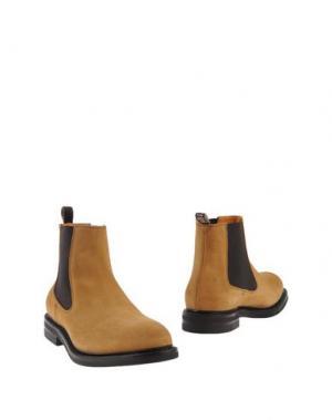 Полусапоги и высокие ботинки FABI. Цвет: охра