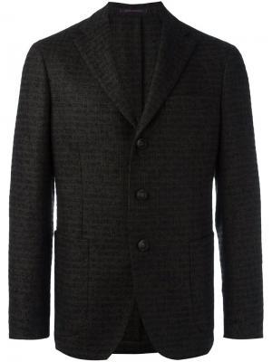 Пиджак с застежкой на три пуговицы The Gigi. Цвет: зелёный