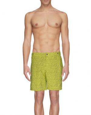 Шорты для плавания DANWARD. Цвет: кислотно-зеленый