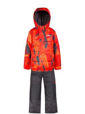 Комплект SALVE. Цвет: серый, рыжий, светло-оранжевый