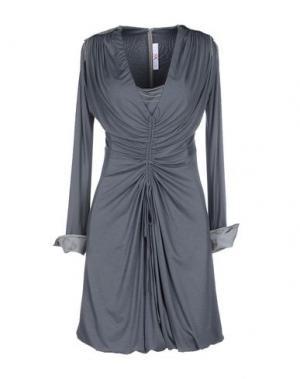 Короткое платье X'S MILANO. Цвет: свинцово-серый