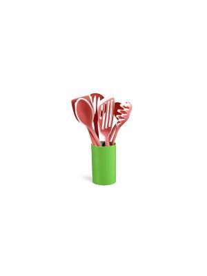 Набор кухоных приборов Elff Ceramics. Цвет: коралловый