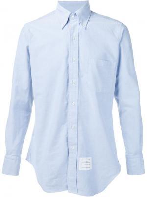 Рубашка на пуговицах Thom Browne. Цвет: синий