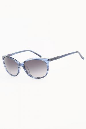 Очки солнцезащитные ELLE. Цвет: голубой
