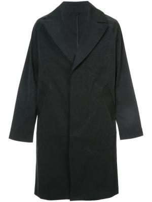 Однобортное пальто Saturdays Nyc. Цвет: чёрный