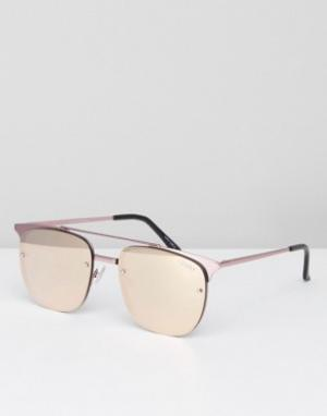 Quay Australia Солнцезащитные очки Private Eve. Цвет: розовый