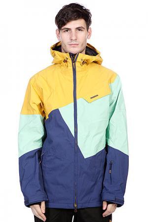 Куртка  Snow Jacket Gates Men Navy Zimtstern. Цвет: желтый,зеленый,синий