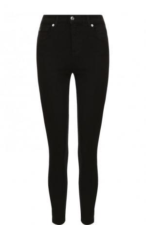 Однотонные укороченные джинсы-скинни 7 For All Mankind. Цвет: черный