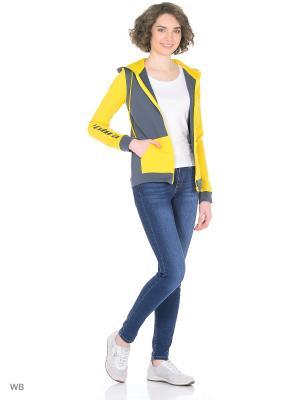 Куртка EMDI. Цвет: желтый