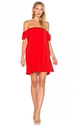 Off shoulder baby doll dress BLQ BASIQ. Цвет: красный