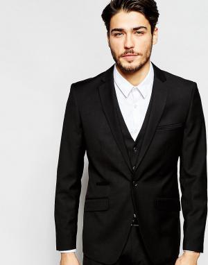 Vito Эластичный пиджак кроя слим. Цвет: черный