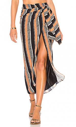 Юбка миди stella pareo Vix Swimwear. Цвет: коричневый