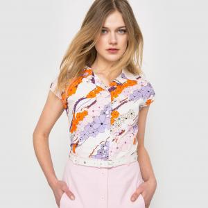 Рубашка без рукавов Carven x La Redoute. Цвет: цветочный рисунок