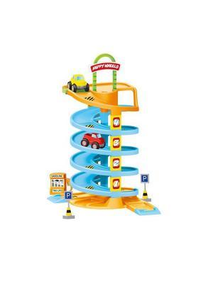Игровой набор спиральная дорога с машинками Dolu.. Цвет: синий