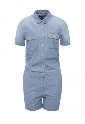 Комбинезон джинсовый Tommy Hilfiger. Цвет: голубой