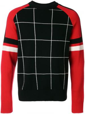 Трехцветный свитер Ami Alexandre Mattiussi. Цвет: чёрный