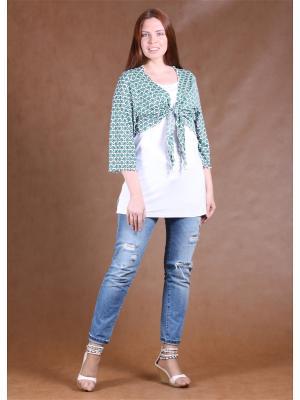Комплект одежды Yuliya Shehodanova. Цвет: белый, темно-синий, зеленый