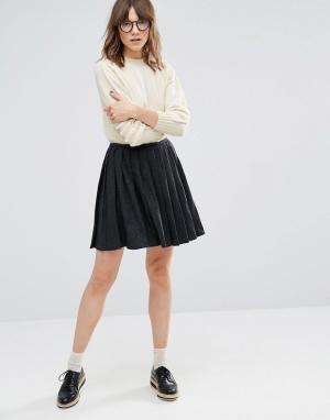 YMC Плиссированная юбка. Цвет: серый