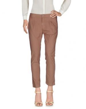 Повседневные брюки RA-RE. Цвет: светло-коричневый