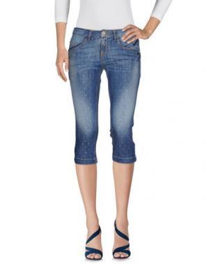 Джинсовые брюки-капри JUST FOR YOU. Цвет: синий