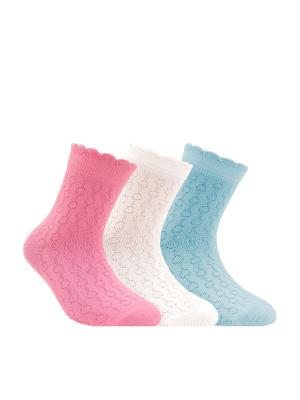 Носки BRAVO 14С-13СП, комплект 3 пары Conte Kids. Цвет: белый, бирюзовый, малиновый