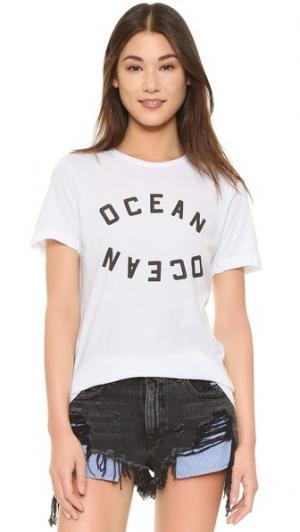 Футболка Ocean с округлым вырезом Rxmance. Цвет: белый