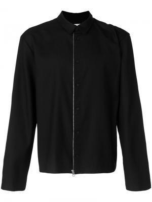 Куртка с застежкой на молнию и пуговицы Helmut Lang. Цвет: чёрный