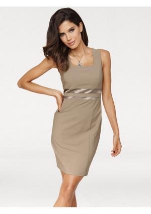 Платье-футляр Ashley Brooke. Цвет: серо-коричневый