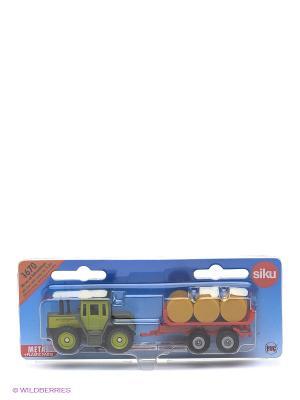 Трактор с прицепом для снопов SIKU. Цвет: синий