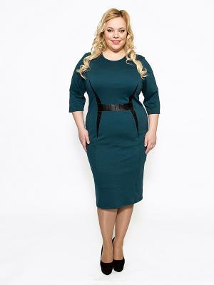 Платье SVESTA. Цвет: темно-зеленый, черный