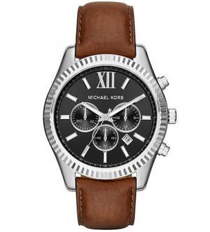 Часы с кожаным ремешком Michael Kors