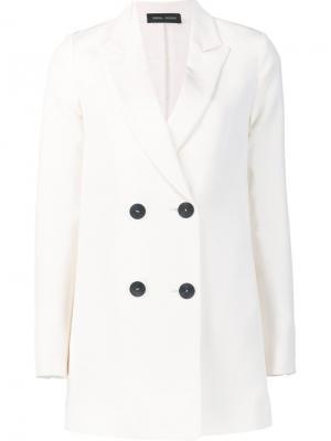 Двубортный пиджак Florence Misha Nonoo. Цвет: белый