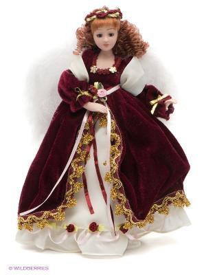 Кукла фарфоровая Селена Lisa Jane. Цвет: бордовый