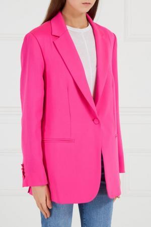Розовый шерстяной жакет Golden Goose Deluxe Brand. Цвет: none