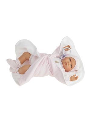 Кукла Берта в розовом, озвученная,52см Antonio Juan. Цвет: бледно-розовый