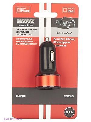 Зарядное устройство с двумя USB-портами UCC-2-7 WIIIX. Цвет: черный