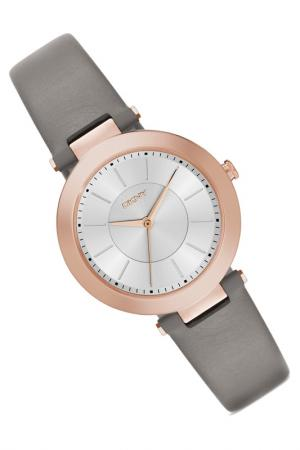 Наручные часы DKNY. Цвет: розовое золото, серый