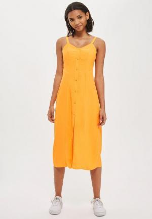 Платье Topshop. Цвет: желтый