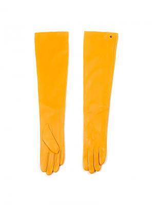 Перчатки Piero. Цвет: желтый