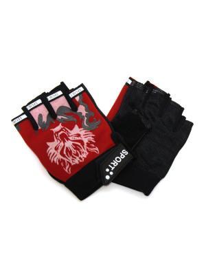 Перчатки спортивные Eleon. Цвет: черный, красный