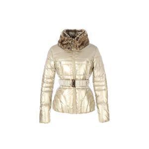 Куртка стеганая средней длины с ремешкомTALENT от DERHY RENE. Цвет: золотистый