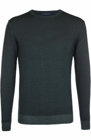 Пуловер из шерсти тонкой вязки Daniele Fiesoli. Цвет: зеленый