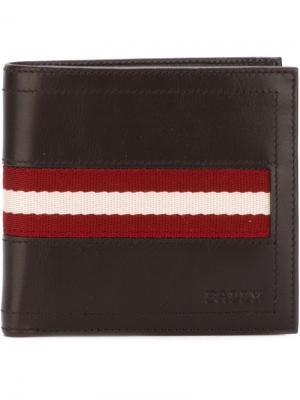 Классический бумажник Bally. Цвет: коричневый