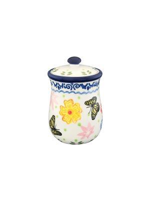 Горшочек для меда Бабочки Elan Gallery. Цвет: белый, синий, желтый